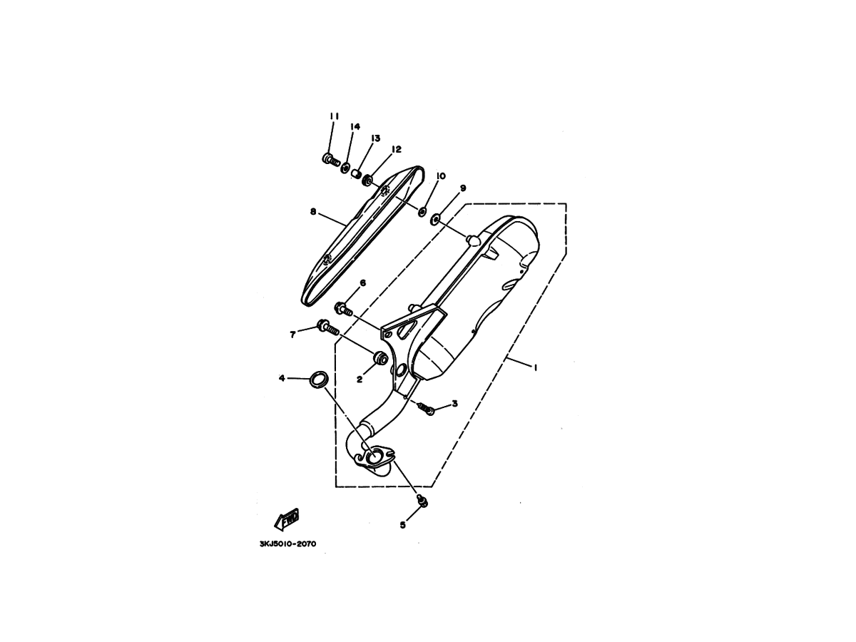 Udstødning til Yamaha Jog AS/FS ORIGINAL