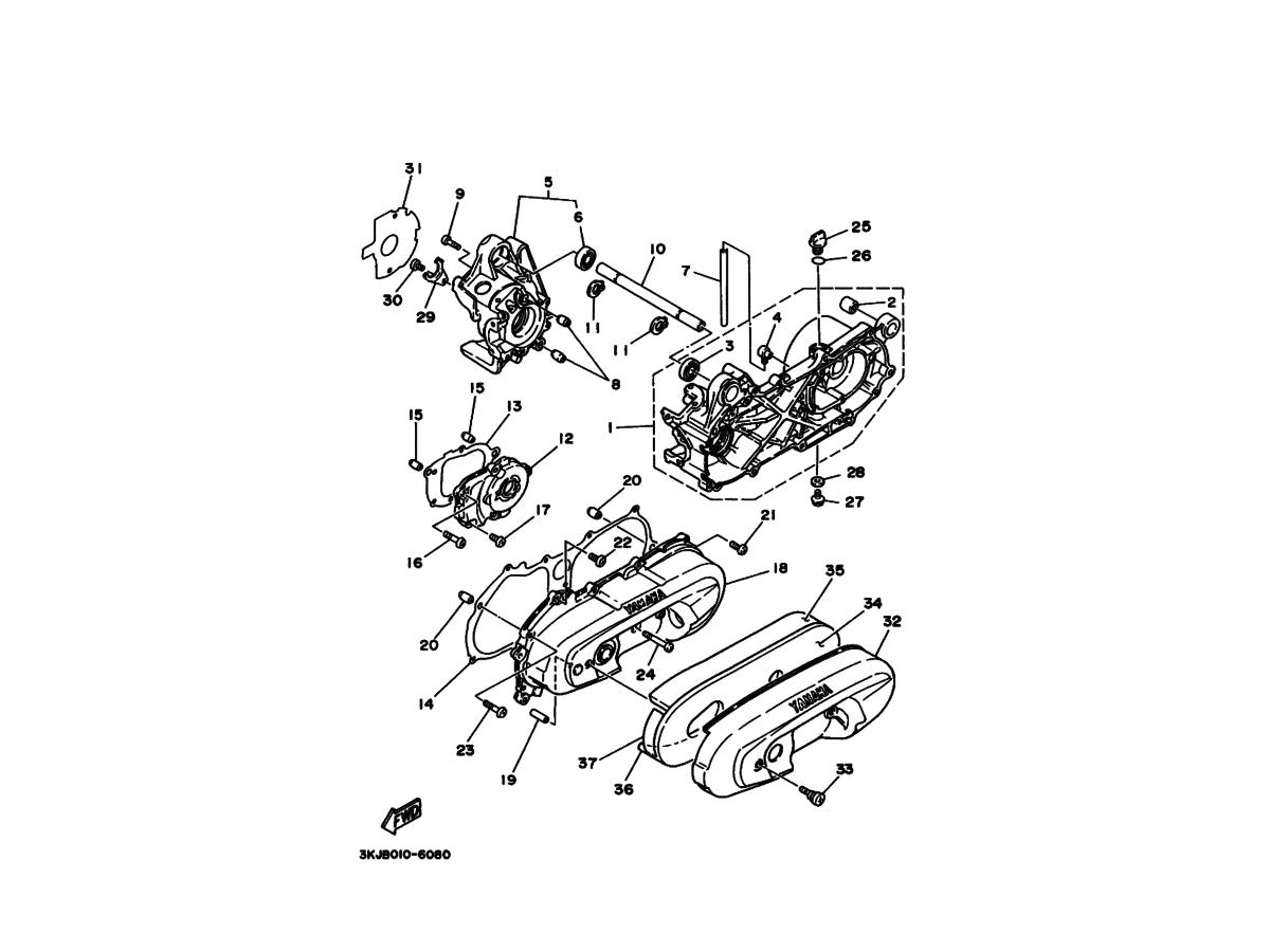 Motorblok til Yamaha Jog AS/FS ORIGINAL